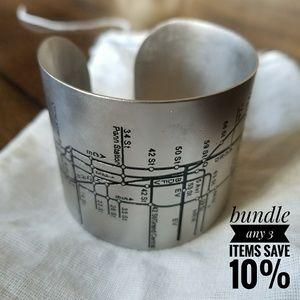 NYC Metro stainless steel cuff bracelet